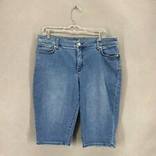 Tommy Bahama Women Shorts Denim Blue Jeans High Rise Boardwalk Sz 14/15