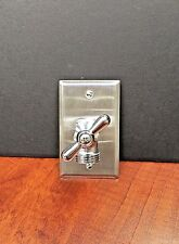 VINTAGE STEAMPUNK WASHING MACHINE LIGHT SWITCH,  NOW YOU CAN STEAMPUNK YOUR WALL