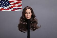 "1/6 Jennifer American Female Head Sculpt For 12"" Hot Toys PHICEN Figure USA"