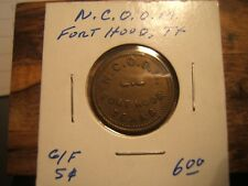 N.C.O.O.M. FORT HOOD, TX Token (NON COMMISSIONED OFFICERS MESS)  5 Cent Token
