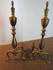 Pair Of Cast Iron & Brass, Fireplace Andirons