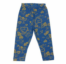 Oshkosh Printed Fitted Leggings for Baby Girl Blue Hearts  Size 8 years old