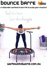 Rebounder Mini Trampoline EXERCISE DVD Barlates Body Blitz BOUNCE BARRE