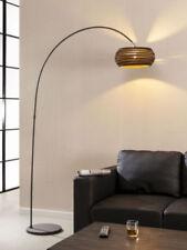 Stehlampe Bogenlampe CAIDEN Lampe Wohnzimmerlampe Metallgestell Karton Braun
