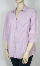 Autograph Polyester 3/4 Sleeve Striped Tops & Blouses for Women
