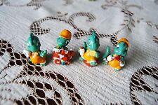 vintage Kinder Surprise dinos small builder dinosaur toy figurines x 4