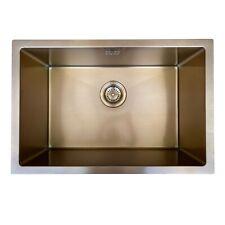 ENKI KS037 Rose Gold Kitchen Sink Rectangular Stainless Steel Undermount Inset