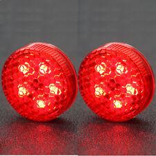 2pcs Car Door Warning Light 5 LED Wireless Safety Anti-collision Alarm Lamp Red