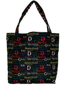 Deutschland Städte Einkaufsbeutel Berlin Germany Einkaufstasche Shopper Gobelin