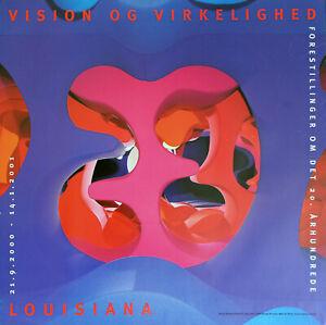 2000-2001 Original Verner Panton 'Visiona' Museum Poster Louisiana Denmark