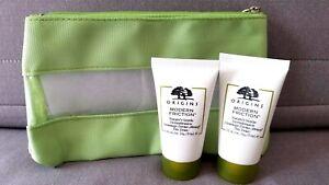 2 x NEW ORIGINS Modern Friction Nature's Gentle & make up bag 1oz /30ml=60ml