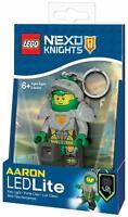 New LEGO Nexo Knights Aaron LED Mini Figure Key Light Ring Torch Keychain Shield