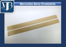 Mercedes-Benz W107 R107 560SL Pair Rubber Door Sill Mats - Beige NEW