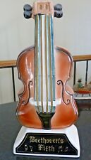 """Vintage Beethoven's 5th Musical whiskey decanter cello  -no cork. 11"""" - FS -H"""