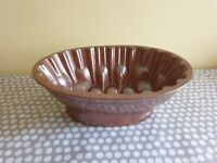 Vintage Brown Ceramic Jelly Mould. Weight 755gm