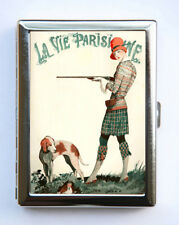 Cigarette Case id case Wallet La Vie Parisienne Hunter Dog