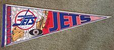 1994 Winnipeg Jets Signed X3 Hockey Pennant,Nikolia Khabibulin,Grosek,Shannon