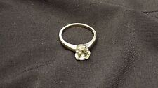 Authentic Solid White Gold 14KT 2CT CZ Ring 3.50g Men's Womens G104