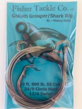 10' Heavy Duty Goliath Grouper/Shark Leader Rig 900lb SS Cable 24/0 Circle Hook