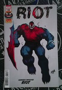 Extreme Carnage Riot 2021 #1 Marvel Comics Variant Cover 1:10 Venom Spider-Man