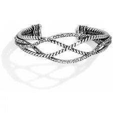 NWT Brighton SWIRL Squeeze Cuff Silver Bangle Bracelet MSRP $70