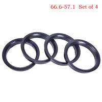 4Pcs 66.6-57.1mm Plastic Wheel Bore Center Collar Hub Centric Bh