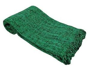 LARGE Luxury Chenille Sofa / Bed Throw in 6 Colours 152x203cm
