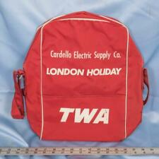 Vintage TWA London Holiday Travel Carry-On Luggage Suitcase Overnight Bag dq