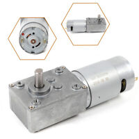 5±10%rpm Electric Turbo Worm 12V High Torque Low Speed Gear Motor 8mm 3RPM NEW