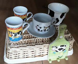 Kuh Becher Kaffeebecher Tasse Übertopf Haken Hakenbrett Keramik Küche Frühstück