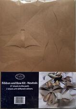 Ribbon & Bow Kit - Neutrals - Makes 108 Bows - 9 Different Colours