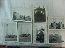 Lot of 7 Vintage Photos 1940s Dodge Ford Trucks Well Drilling Rigs 817