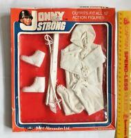 """VINTAGE JOHNNY STRONG 12"""" BOOTLEG GI JOE ACTION FIGURE SNOW SKI OUTFIT MIP!!!"""