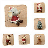 Tabletop Xmas Snowman Decorations Christmas Tree Cute Santa Gifts Office