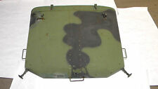 Military Truck M35A3 Camo Colored Used Complete Hood Assembly w/ Insulation