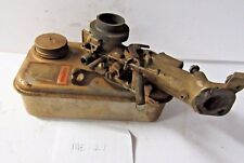Lawn Mower Small Engine Gas Tank Carburetor Assembly Parts or Repair Vintage M21