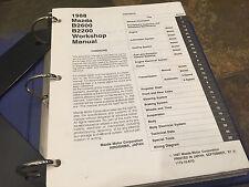 1988 Mazda B2200 B2600 Pick Up Truck Service Repair Shop Manual