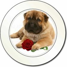 Shar Pei Dog with Red Rose Car/Van Permit Holder/Tax Disc Gift, AD-SH2RT