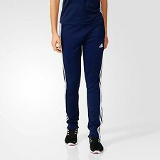 adidas Tracksuit Bottoms T16 Climalite Ladies Sweat Pants Womens Sports Running S Blue
