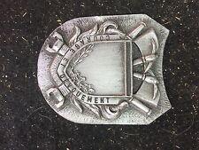 Plaque en etain sapeurs-pompiers  médaille insigne décoration vintage