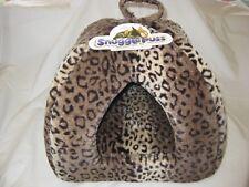 Cat Bed - SnugglePuss Igloo in Leopard Print - Small Size 38cm x 38cm x 38cm