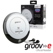 More details for groov-e retro series personal portable cd player walkman - silver - gvps110/sr