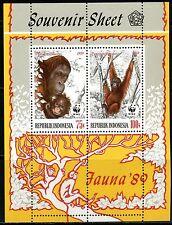 INDONESIE: ZB 1370/1371 MNH** Blok 82/83 1989 World Wildlife Fund