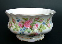 Royal Albert Moss Rose 1st Quality Tea Size Open Sugar Bowl 11cmw - Looks in VGC