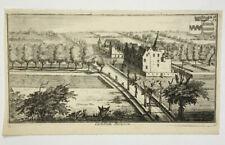 CHATEAU RIVIEREN Castellum GRAVURE Harrewijn HARREWYN Ganshoren BELGIQUE 1730