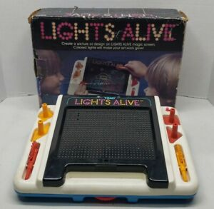 1983 Tomy Lights Alive Picture Design - with og box- box has wear - tested works