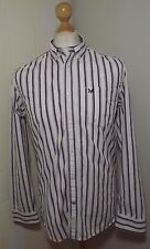 Mens Crew Clothing Tailored Fit Stripe Shirt Size Small P2P 20''