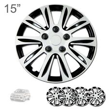 "FOR VW NEW 15"" ABS SILVER RIM LUG STEEL WHEEL HUBCAPS COVER 547"