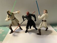 star wars black series Qui Gon Jinn Darth Maul Obi-wan Loose Lot 6 Inch