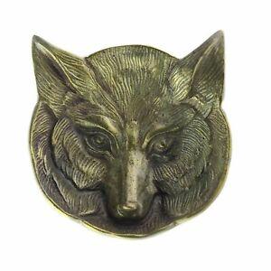 8810-14 - Fox Cast Metal Dish - Antique Brass